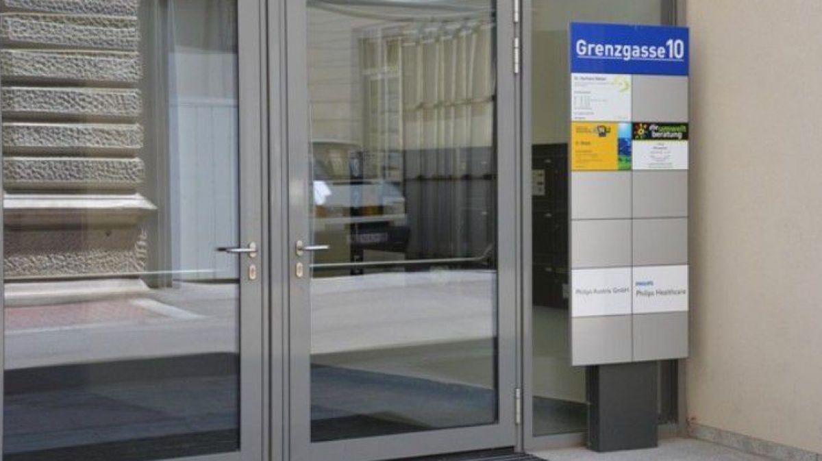 Eingang Bürogebäude St. Pölten