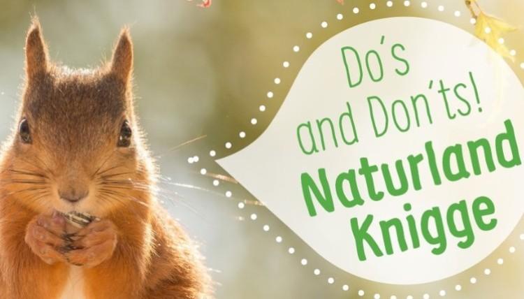 Naturland-Knigge Collage mit Eichhörnchen