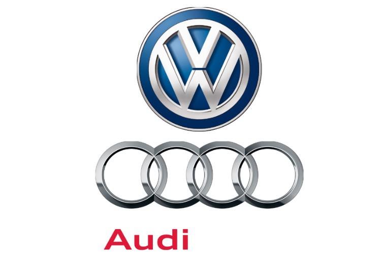 Logo Audi und VW